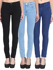 set of 3 multicolored denim jeans -  online shopping for Jeans