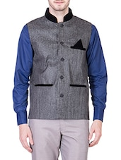 grey cotton nehru jacket -  online shopping for Nehru Jacket