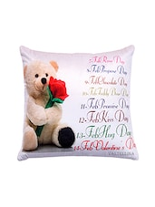 Sweet Teddy Print For  Your Valentine Cushion Cover . - By