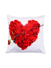 Heart With Red Roses Design  For  Your Special One Cushion Cover . - By