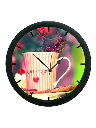 meSleep Multi Colour Mug Wall Clock (With Glass)