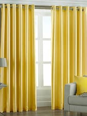 Trendz Home Furnishing Plain Window white Clour Curtain Set of 2 -  online shopping for Curtains