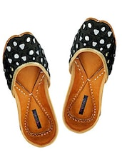 Black juttis with mirror handwork -  online shopping for Jutis & Mojaris