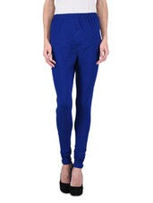 Royal Blue Cotton Spandex Legging - By