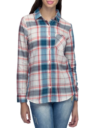multi cotton regular shirt