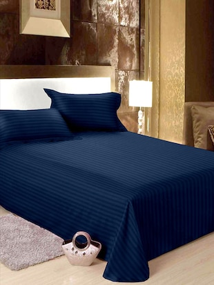 BIANCA 100% Mercerized Cotton King Size Double  Bedsheet With  pillow covers.