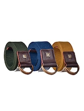 pack of 3 multi colored Canvas belt -  online shopping for belts