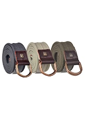 Pack Of 3 Multi Colored Canvas Belt - By - 12890491