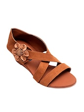 brown closed back wedge -  online shopping for wedges