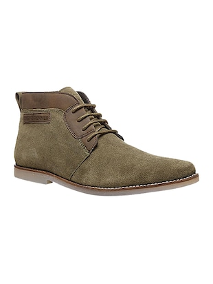 green Suede Low ankle boot -  online shopping for Boots