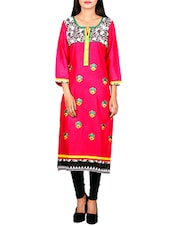 red cotton straight kurta -  online shopping for kurtas