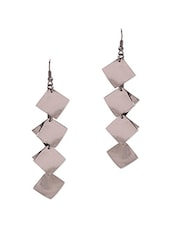 Multcolored Metallic Drop Earrings - By