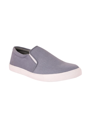 grey pvc slip on shoes