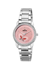 Round Shape Pink Dial Analog Watch -  online shopping for Wrist watches