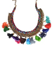 multi fur tribal necklace -  online shopping for Necklaces
