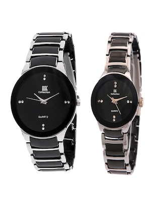 metal strap round dial couple watch -  online shopping for Wrist watches