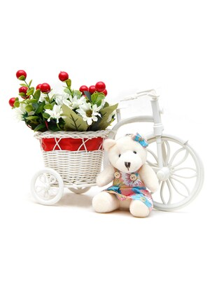 TriCycular Floral Arrangement With Teddy
