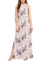 beige printed maxi dress -  online shopping for Dresses