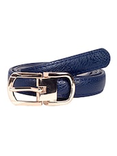 Blue Leatherette (pu Belt - By - 12910159
