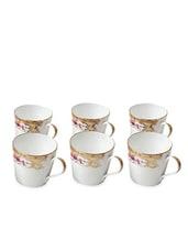 Set Of 6 White Coffee Mugs - By - 1291147