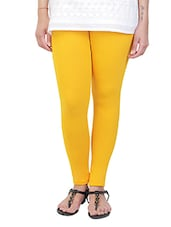 yellow cotton leggings -  online shopping for Leggings