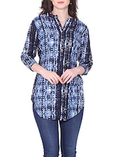 blue rayon regular top -  online shopping for Tops