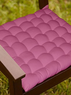 Lushomes Magenta Comfy Cotton Chair Cushion with 36 knots & 4 tie backs  available at Limeroad for Rs.399