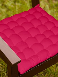 Lushomes Pink Comfy Cotton Chair Cushion with 36 knots & 4 tie backs  available at Limeroad for Rs.399