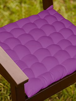 Lushomes Purple Comfy Cotton Chair Cushion with 36 knots & 4 tie backs  available at Limeroad for Rs.399