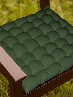 Lushomes Green Comfy Cotton Chair Cushion with 36 knots & 4 tie backs  available at Limeroad for Rs.399