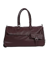 brown leatherette luggage -  online shopping for Bags