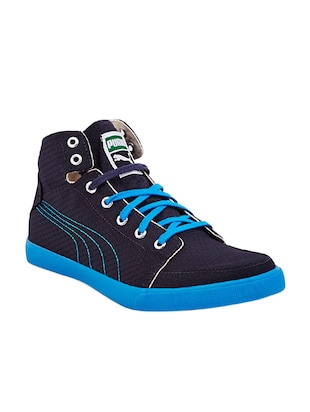 navy fabric lace up sneakers -  online shopping for Sneakers
