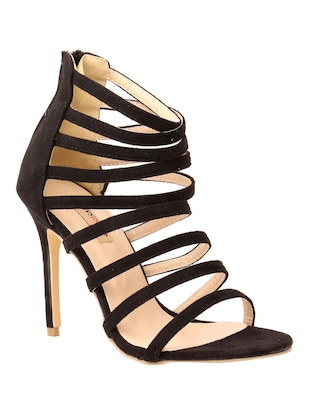 black suede gladiators sandals