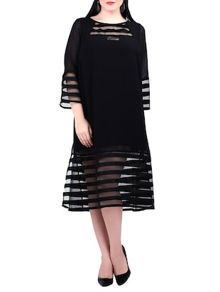 black georgette plus dress