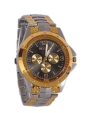 metallic round dial stainless steel watch -  online shopping for Analog Watches