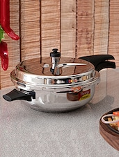 Silver Stainless Steel Induction Base Pan- - By