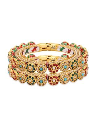 multi gold plated bangle