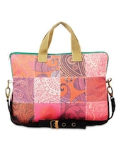 Multicolored Paisley Printed Cotton Canvas Laptop Bag - By