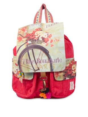 Multi Printed Cotton Canvas Backpack -  online shopping for backpacks