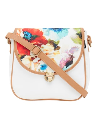 white canvas messenger sling bag