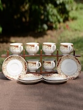 Green And White Porcelain Tea Set - By