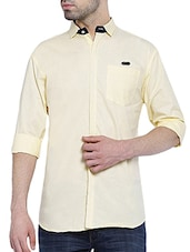 yellow cotton casual shirt -  online shopping for casual shirts