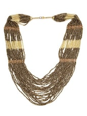 Long Beaded Ethnic Necklace - By
