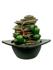 Black And Olive Brown Polyresin Water Fountain - By