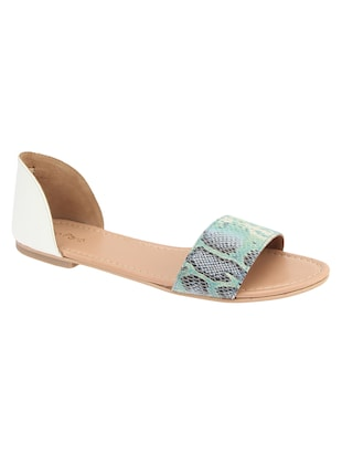 turquoise closed back  sandal