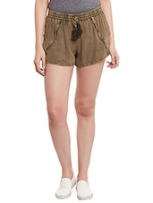 brown viscose short -  online shopping for Shorts