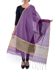 Purple Net Dupatta - By