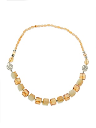 yellow crystal heavy statement necklace