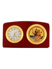 Leganza Shiv Parivar Table Clock Idol Brown Golden -  online shopping for Table Clocks