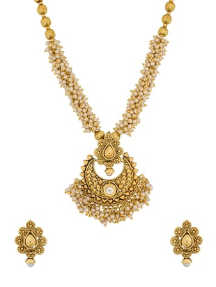 gold plated bridal necklace